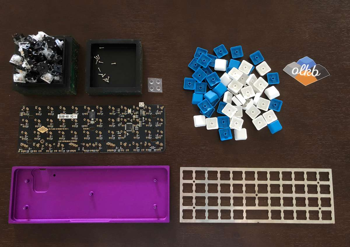 Photo of all the keyboard parts